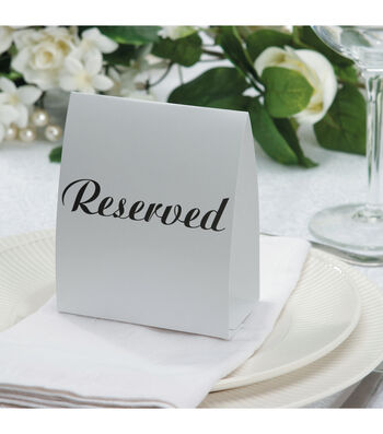 Darice® 12pk Reserved Table Tent Cards