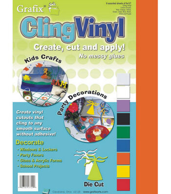 "Cling Vinyl 9""X12"" Sheets"