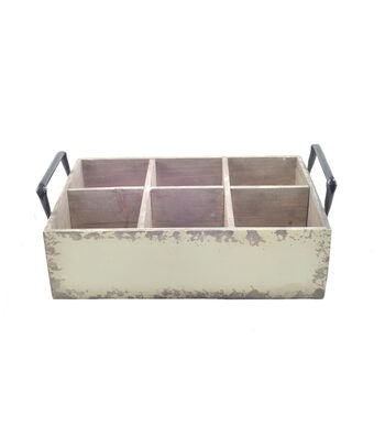 Bloom Room Wood Planter With 6 Cubbies