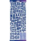 Sticko® 208 Pack Foam Dimensional Alphabet Stickers-Blue