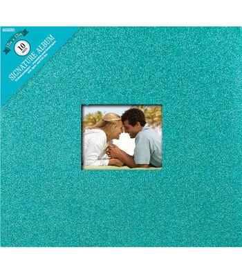"Colorbok Post Bound Glitter Album 12""X12""-Teal"