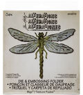Sizzix Bigz Die with A2 Texture Fades Folder-Layered Dragonfly