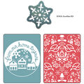 Sizzix Embossing Folders with Bonus Sizzlits Die From Our Home, Yule