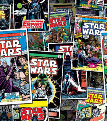 "Star Wars™ Cotton Fabric 44""-Comic Book Covers"