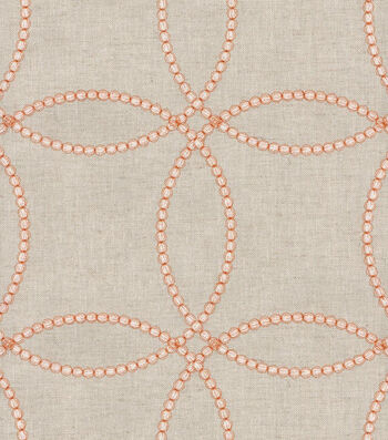 "P/K Lifestyles Upholstery Fabric 54""-String Along Emb/Copper"