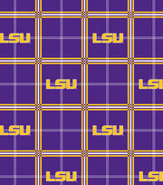 "Louisiana State University Tigers Flannel Fabric 42""-Plaid, , hi-res"