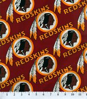 "Washington Redskins Cotton Fabric 58""-Logo Circles, , hi-res"