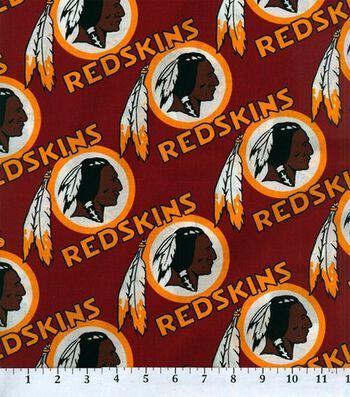 "Washington Redskins Cotton Fabric 58""-Logo Circles"