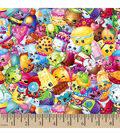 Shopkins™ Jersey Fleece Fabric-Packed Print