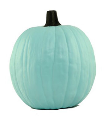 Fun-Kins™ Halloween 12'' Artificial Carvable Pumpkin-Teal