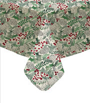 Maker's Holiday Christmas 52''x52'' Tablecloth-Holly, , hi-res