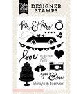 Stamps 4\u0022X6\u0022-Wedding Bliss, Mr. & Mrs.