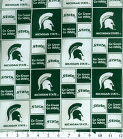 Michigan State University Spartans Cotton Fabric 43''-Block, , hi-res