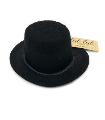 Darice Stiffened Felt Top Hat Black