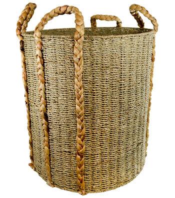 Large Round Woven Laundry Storage Basket
