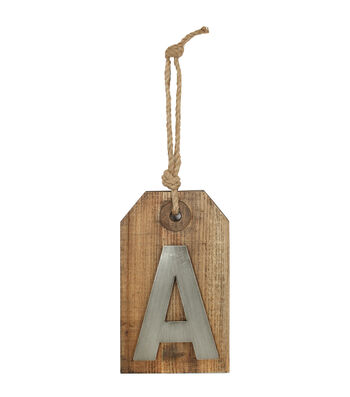 Wood Plaque With Rope 7''x12''