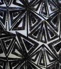 Casa Embellish Sequin Fabric 54\u0022-Geometric Triangle