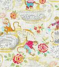 Dena Home Multi-Purpose Decor Fabric 54\u0022-Monkey Jars/Blossom