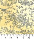 Buttercream™ Cosette Cotton Fabric 43\u0022-Bird Damask Yellow