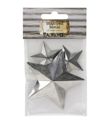 Salvaged Tin Stars Metal Shapes