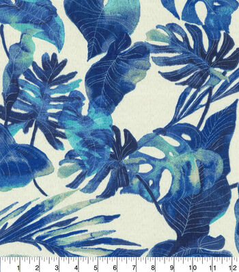 "Tommy Bahama Outdoor Fabric 54""- Inky Palms Indigo"