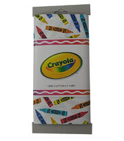 Crayola® Fabric 1yd Cut-Tossed Crayons White, , hi-res