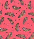 Snuggle Flannel Print Fabric 42\u0027\u0027-Rainbow Feathered Arrows