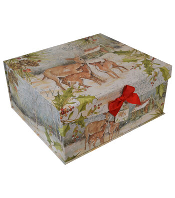 Maker's Holiday Extra Large Flip Top Box-Winter Rustic