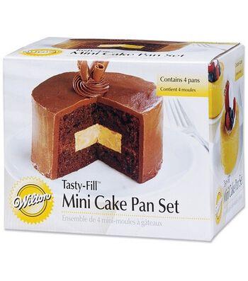 Wilton® Tasty-Fill Mini Cake Pan Set-4/Pkg
