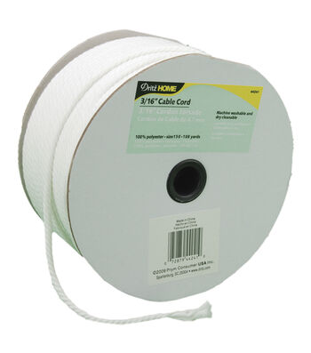 """Dritz Cable Cord 3/16""""X108yd-White"""