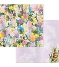 BoBunny Cottontail 25 pk 12\u0027\u0027x12\u0027\u0027 Double-Sided Cardstock-Flowers