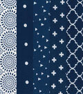 Charm Pack Cotton Fabric 5\u0022-Navy Squares