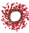 Blooming Holiday 17\u0027\u0027 Berry Wreath-Red