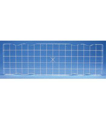 Acrylic Block W/Alignment Grid 2.5X8-2.5x8x.5
