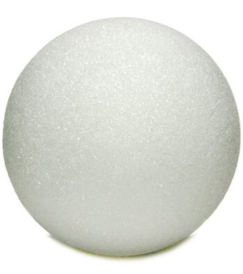 "Styrofoam 6"" Balls-1PK/White"
