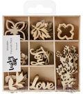 Themed Mini Wooden Flourishes-Bouquet