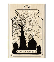 Inkadinkado® Mounted Rubber Stamp-Happy Haunting, , hi-res
