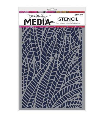 Ranger® Dina Wakley Media 6''x9'' Stencils-Jungle