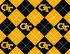 Georgia Tech Yellow Jackets Fleece Fabric 58\u0022-Argyle