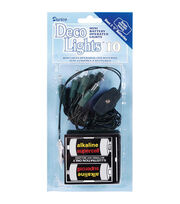 Darice® DecoLights 10 Clear Bulbs Light Set-Green Cord, , hi-res