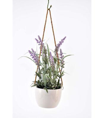 Fresh Picked Spring 13'' Lavender Arrangement in Hanging Pot