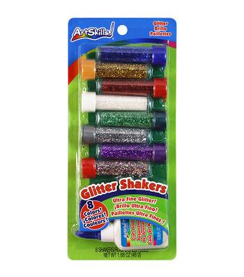 Glitter Shakers Ultra-Fine Glitter .19oz 8/Pkg-