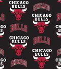 Chicago Bulls Fleece Fabric 58\u0027\u0027-Tossed