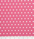 Tutti Fruitti Embossed Fabric 44\u0022-Polka Dot Fuchsia and White