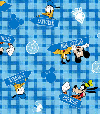 "Disney® Mickey Mouse Flannel Fabric 42""-Outdoor Fun"
