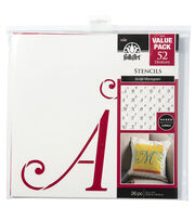 FolkArt® 26 Pack 12''x12'' Diecut Paper Stencils-Script Monogram, , hi-res