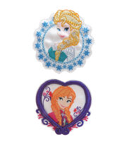 Disney® Elsa & Anna Frozen Iron-On Appliques, , hi-res