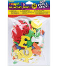 Darice Foam Stickers Assorted Colors Alphabet