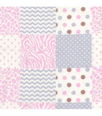 "Nursery Flannel Fabric 42""-Geometrics"