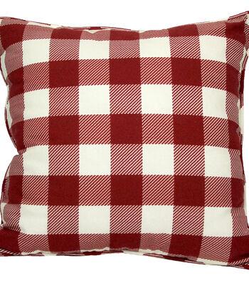 Americana Patriotic Outdoor Solarium Pillow-Red Gingham Print